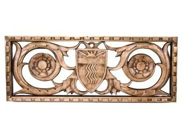 c. 1928 medinah athletic club cast bronze building facade exterior grille  – walter w. ahlschlager, architect