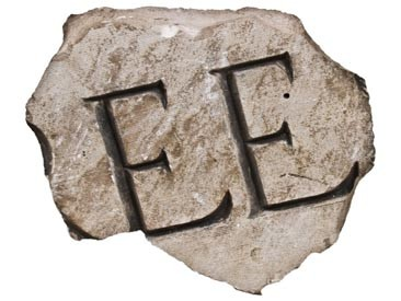 early 20th century historically-important chicago building fragment in the form of a solid oversized name plaque fragment recovered from the michael reese hospital demolition site