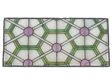 c. 1894 chicago stock exchange skylight art glass panels
