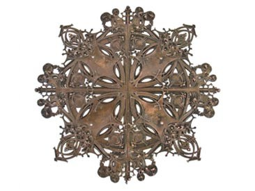 late 19th century louis h. sullivan designed bronze-plated schlesinger & mayer building elevator door medallion