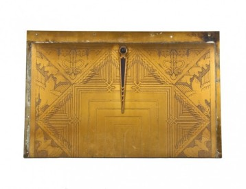 early 1930′s american depression era museum-quality interior rookery building drummond elevator door transom panel with indicator – possibly fabricated by winslow brothers