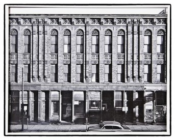 mid-1950's original richard nickel silver gelatin photograph or print of the levi rosenfeld commercial building facade shortly before demolition – i.i.t. stamp & signature on print verso