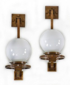 early 20th century frank lloyd wright designed wall-mount sconces from the darwin d. martin house