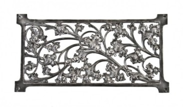 remarkably detailed late 19th century ornamental cast iron fisher building elevator door panel or screen with allover leafage – winslow brothers foundry, chicago, il.