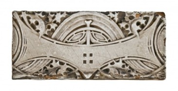 late 19th or early 20th century exterior white glazed terra cotta schlesinger & mayer department store building stringcourse panel – northwestern terra cotta co., chicago, il.