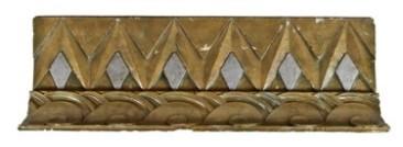 original c. 1931 art deco style nortown theater cast plaster cove molding fragment– j.e.o. pridmore, architect