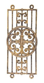 exceptional late 1920's american ornamental cast iron neoclassical style historic sheridan theater lobby staircase baluster panel – j.e.o. pridmore, architect