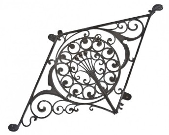 c. 1890 ornamental cast iron northwestern guaranty building atrium baluster panel– edward townsend mix, architect