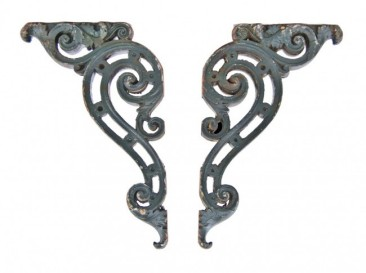 two matching c. 1920's neoclassical style chicago union station ornamental cast iron exterior brackets– d. h. burnham & company, architects
