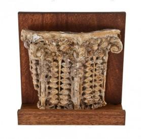 c. 1897 rollin furbeck residence exterior sullivanesque style cast plaster pilaster capital fragment– frank lloyd wright, architect