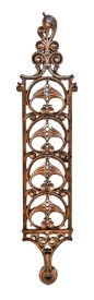 """remarkable late 19th century jenney-designed ornamental copper-plated cast iron leiter ii interior building """"spacer"""" staircase baluster panel – william le baron jenney, architect"""