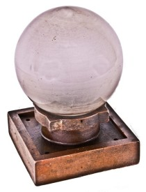 very rare c. 1906 larkin administration building interior wall sconce with glass globe– frank lloyd wright, architect