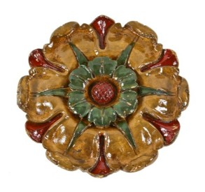 late 1920's interior lawndale theater diminutive floral rosette salvaged from the massive auditorium ceiling medallion – william p. whitney, architect