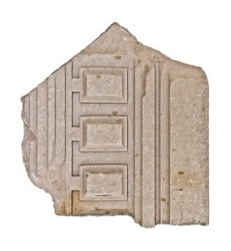 "massive c. 1921 chicago prairie school ""wrightesque"" style carved limestone bunte candy factory exterior facade panel fragment	– schmidt, garden & martin, architects"