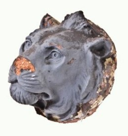 c. 1895 ywca building facade exterior unglazed terra cotta figural lion head– chicago architect john m. van osdel ii