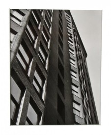 original undated 8 x 10 signed gelatin silver print of the monadnock building's facade taken by photographer richard nickel – richard nickel, photographer