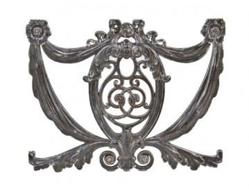 c. 1920's neoclassical style ornamental cast iron downtown chicago new palace theater staircase baluster panel– rapp & rapp, architects