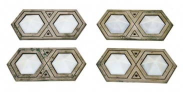 c. 1929 art deco style nickel-plated bronze interior palmolive building elevator indicator plaques– holabird & root, architects