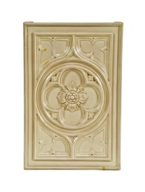 faithfully reproduced exterior reliance building facade cream-colored glazed terra cota gothic style frieze panel with centrally located floral rosette – boston valley terra cotta company. orchard park, ny.