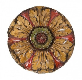 remarkably intact late 1920's interior lawndale theater auditorium ornamental polychromed plaster ceiling medallion– decorators' supply co., chicago, il.