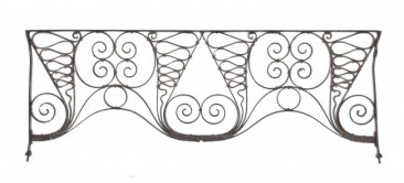 late 1880's elegantly designed hand-wrought and riveted joint auditorium theater iron grille – winslow brothers foundry, chicago, il.