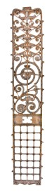 19th century antique american museum-quality william lebaron jenney-designed manhattan building cast iron elevator grille – william lebaron jenney, architect