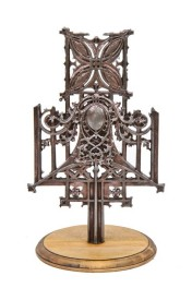 original late 19th century american ornamental cast iron schlesinger & meyer building baluster fragment designed by louis sullivan – winslow brothers foundry, chicago, il.