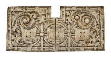 "two matching exterior building facade ""sullivanesque"" terra cotta panels – mildland terra cotta co., chicago, il."