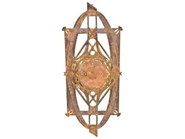 late 19th century chicago stock exchange building copper-plated cast iron baluster panel