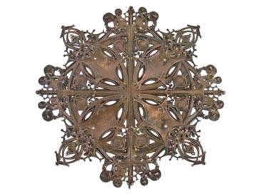 late 19th century louis h. sullivan designed bronze-plated schlesinger & mayer building elevator door medallion